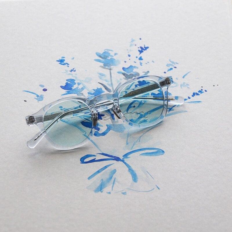 kearny カーニー dearie ディアリー セルロイド眼鏡 Clear Blue