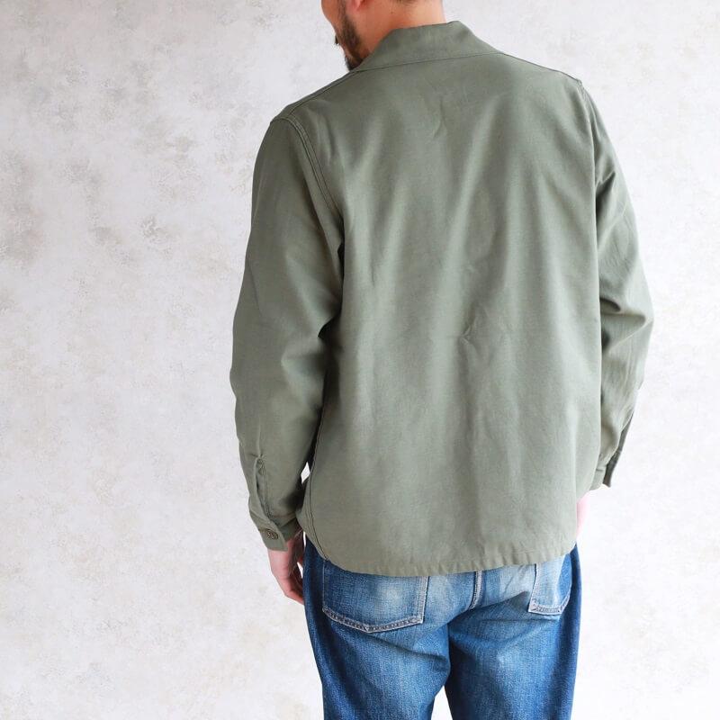 Buzz Rickson's バズリクソンズ SHIRT, MAN'S, COTTON SATEEN, OLIVE GREEN SHADE 107 ミリタリーシャツ