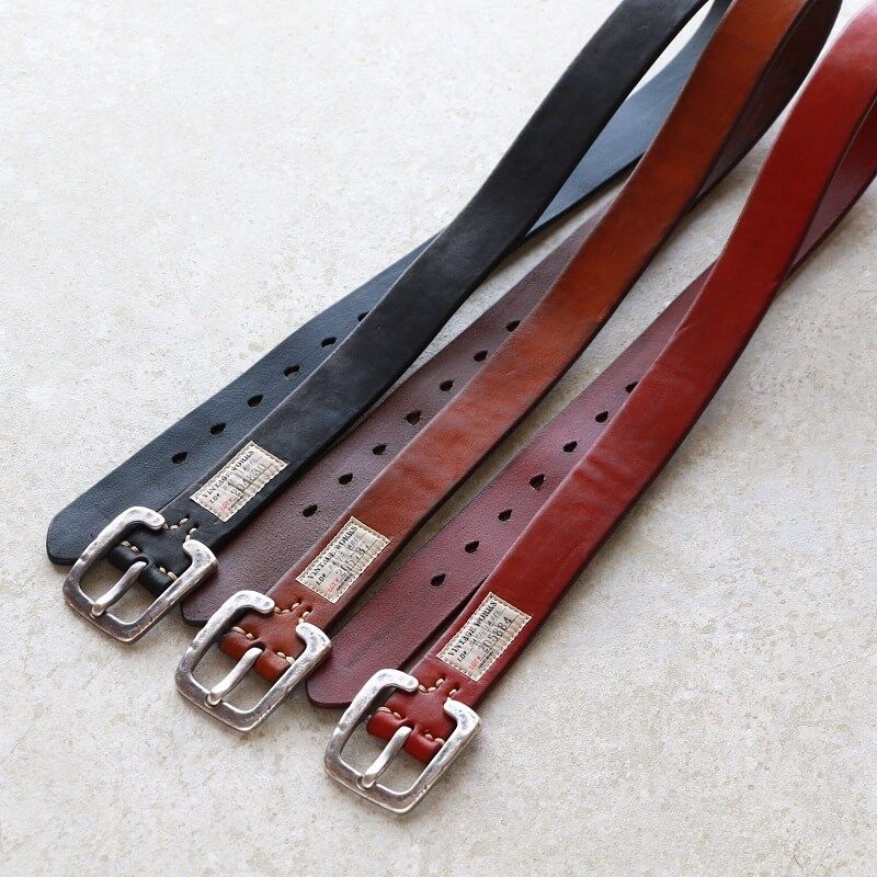 Vintage Works ヴィンテージワークス Leather belt 7Hole レザーベルト 7ホール DH5536