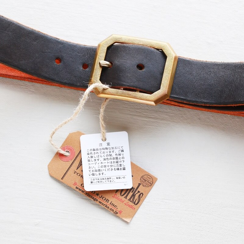 Vintage Works ヴィンテージワークス Leather belt 5Hole レザーベルト 5ホール 茶芯 DH684
