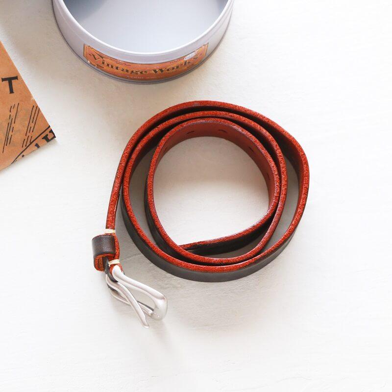 Vintage Works ヴィンテージワークス Leather belt 5Hole レザーベルト 5ホール 茶芯 DH5736