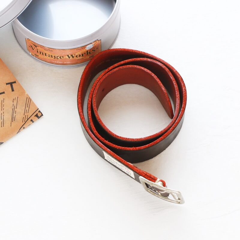 Vintage Works ヴィンテージワークス Leather belt 5Hole レザーベルト 5ホール 茶芯 DH5697