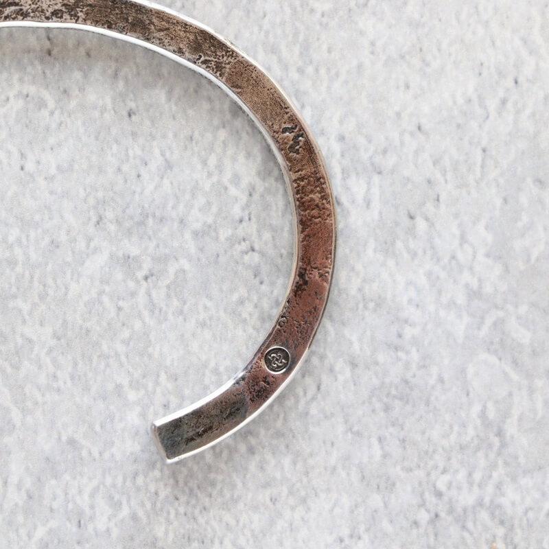 hemlock ヘムロック Forged bangle -silver シルバーバングル