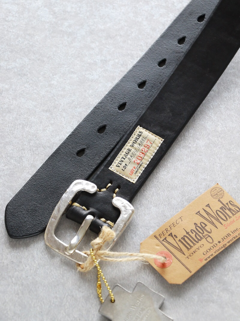 Vintage Works ヴィンテージワークス Leather belt 7Hole 925sv Special Edition レザーベルト 7ホール DH5536