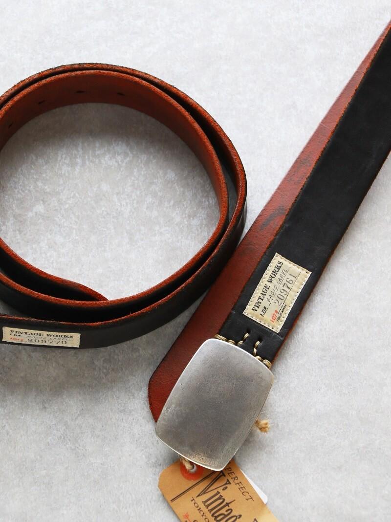 Vintage Works ヴィンテージワークス Leather belt 7Hole レザーベルト 7ホール 茶芯 DH5737